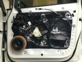 大众途安汽车音响改装升级丹拿232+门板隔音深圳赛电汽车音响