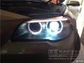 【贵阳毕节鑫源车灯】宝马525改车灯远光假透镜升级海拉五透镜