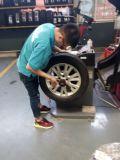荣威550轮胎扎钉碾压后报废,大家以后要注意!