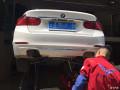 深圳宝马3系改装排气,四出尾段排气