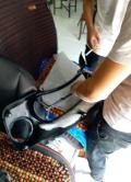 今天搞了个大屏导航,360环影,真皮座椅。