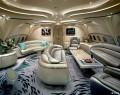 """极致奢华堪比""""豪宅""""的私人飞机内饰"""
