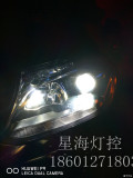 美规奔驰GLS改灯改装LED大灯双光透镜北京改灯小陈星海灯控