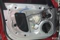 厦门奥迪A4L汽车音响改装丹拿232两分频喇叭