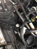 15款柴油大切保养时发现发动机上方有漏油现象