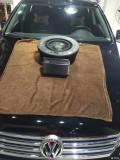 广州聆听汽车音响迈腾备胎低音升级!行李箱交给后备箱不是问题