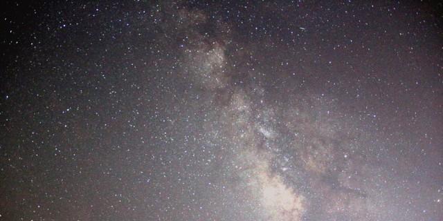 在成都,第一次在近郊看到了银河