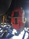改装GLA刹车,前大四活塞,后加大盘,红合头红鲍鱼红螺帽