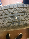 伊犁地邪啊,昨天刚咨询完轮胎,今天就扎胎