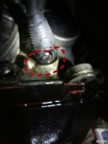 刚换的二手变速箱油底壳往上一点的线束漏油有什么办法处理,谢谢