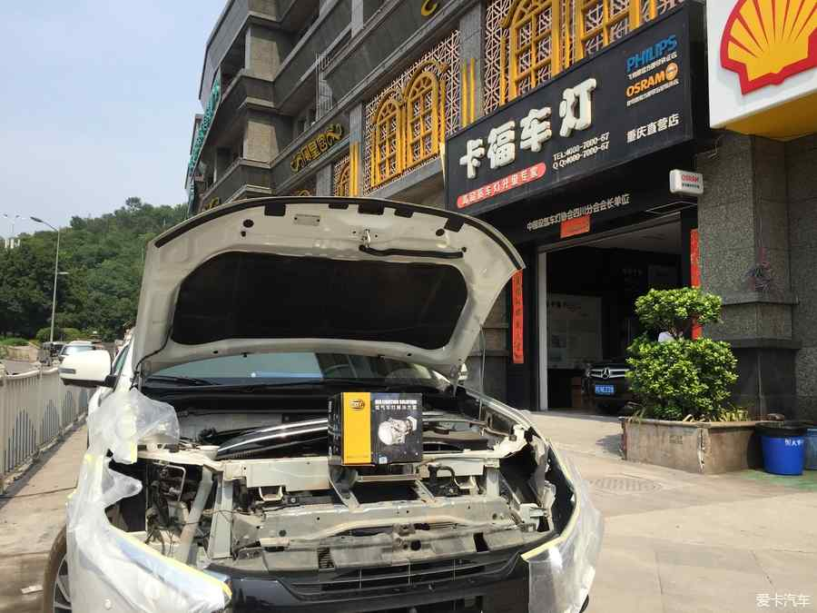 重庆卡福车灯16款欧蓝德六透镜改装新款欧蓝