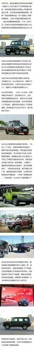趁热打铁 北京BJ80阅兵特别版今天上市