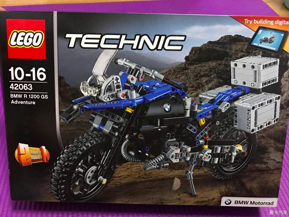 拥有了自己的宝马摩托车lego图纸组42063_乐机械家装报建图片