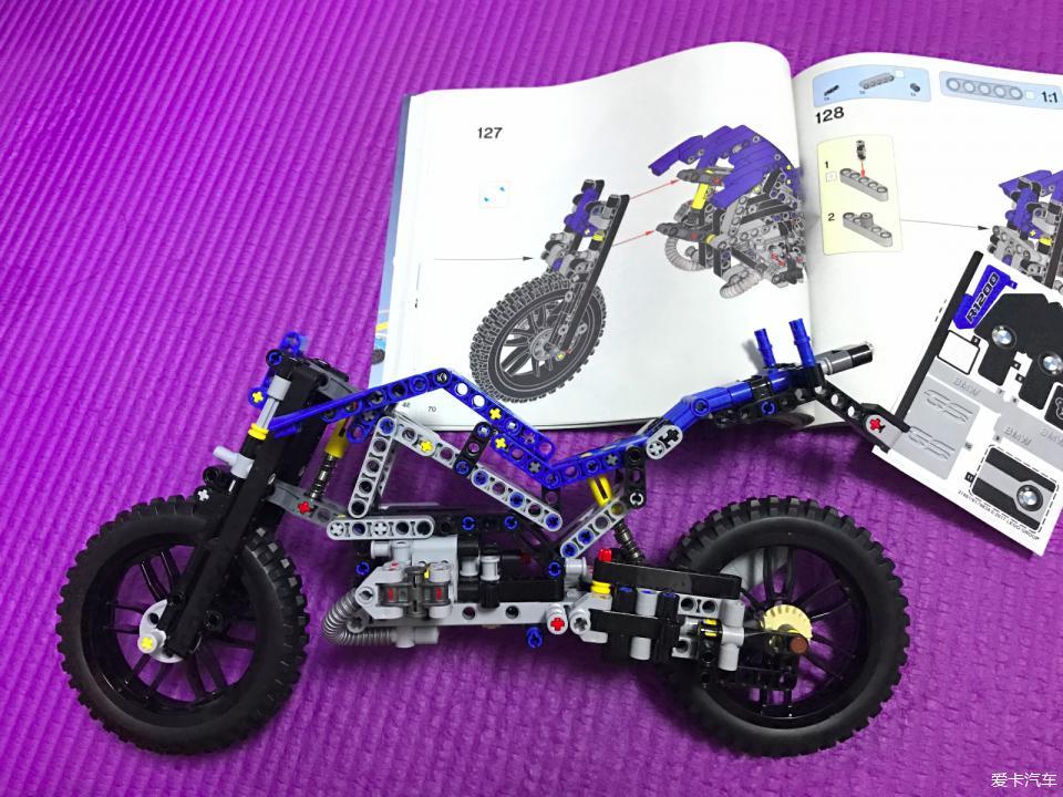 拥有了自己的宝马摩托车lego阳光组42063_乐怎么机械棚图纸画图片