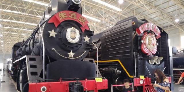 周末带儿子去了火车博物馆