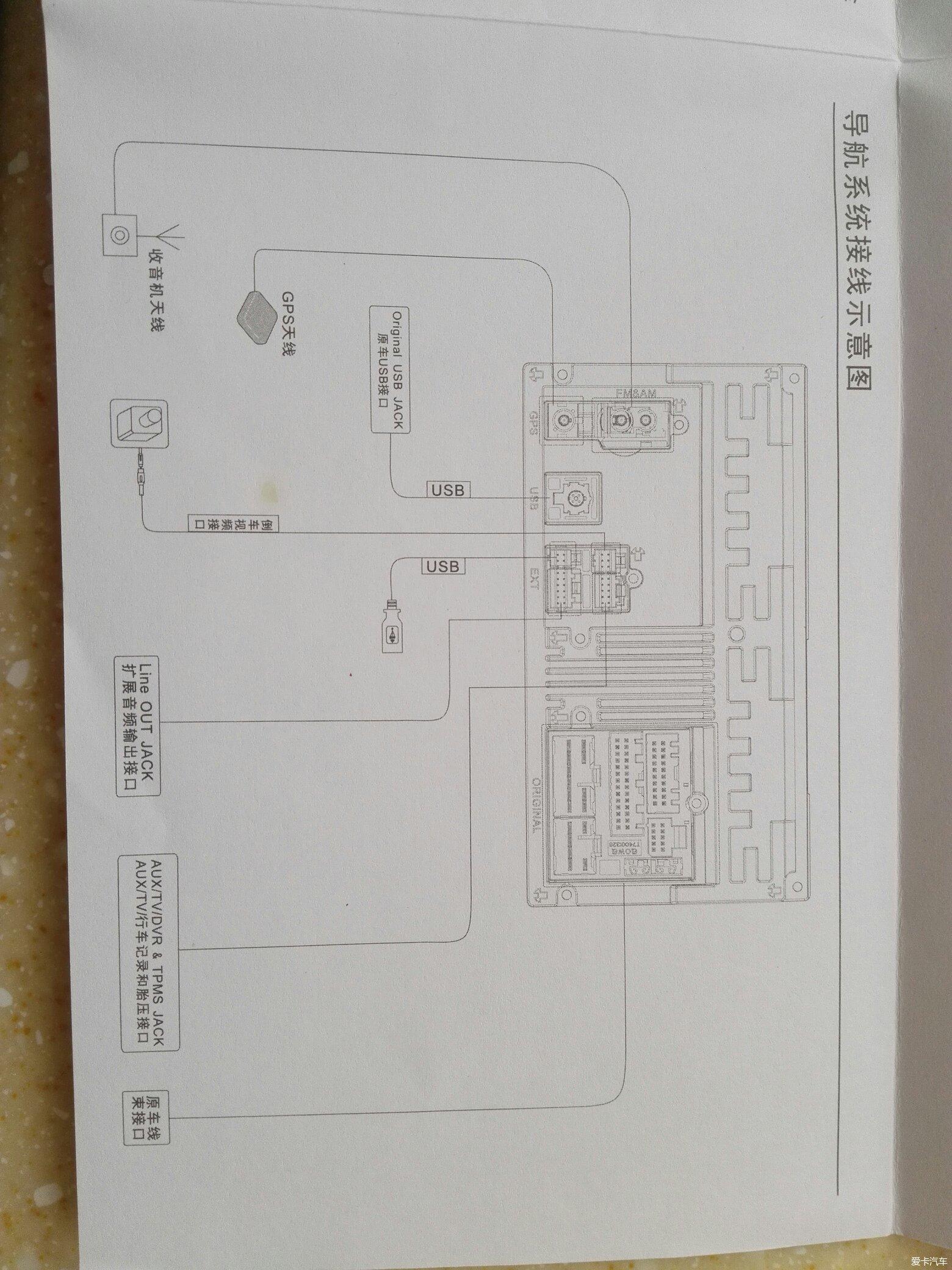 这个是飞歌导航接线图,不知道对你有用没