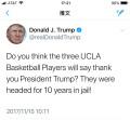 UCLA行窃球员感谢川普并向中国人民道歉