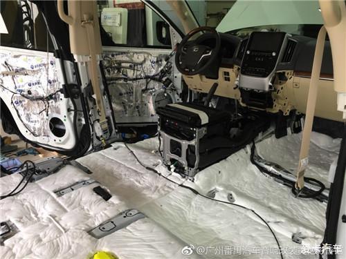 广州汽车音响填充-丰田车全车升级及位置隔音cad改装图纸音响图片