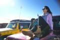 最美女司机,自驾牧马人,穿越腾格里沙漠首次挑战跑沙