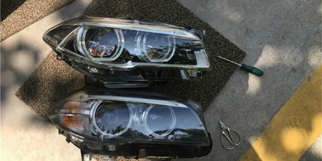 【改装作业】14款宝马535i改装LED大灯作业
