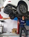 丰田卡罗拉1.2T改装尾段内回压双出排气安装作业,值得一看噢