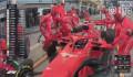 F1法拉利车队失误 莱科宁出站撞倒技师至骨折终退赛