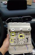 二代CX-5天窗取电安装行车记录仪,全程图片记录