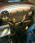 奥迪Q5改装SVE中尾段双边四出可变阀门排气安装作业