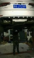 补交奥迪A4L前驱改装中尾段可变阀门四出排气安装作业