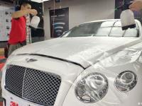 宾利欧陆全车3M顶级高亮透明隐形车衣,经典案列,浅谈贴膜感受