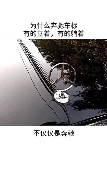 为什么奔驰车标有的立着,有的躺着,这个视频有点料 #汽车