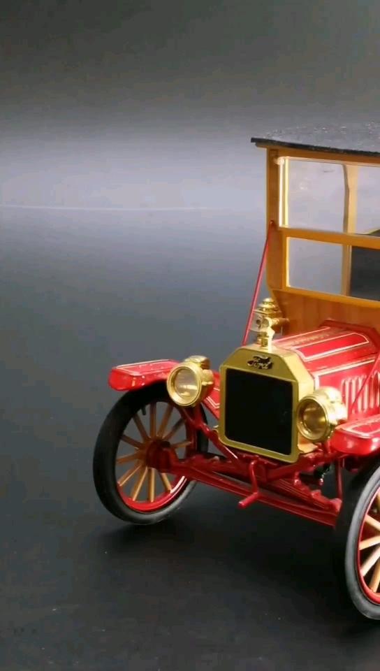 1916福特T型米勒啤酒送货车。1:16比例,东晓汽车模型收藏馆藏品。