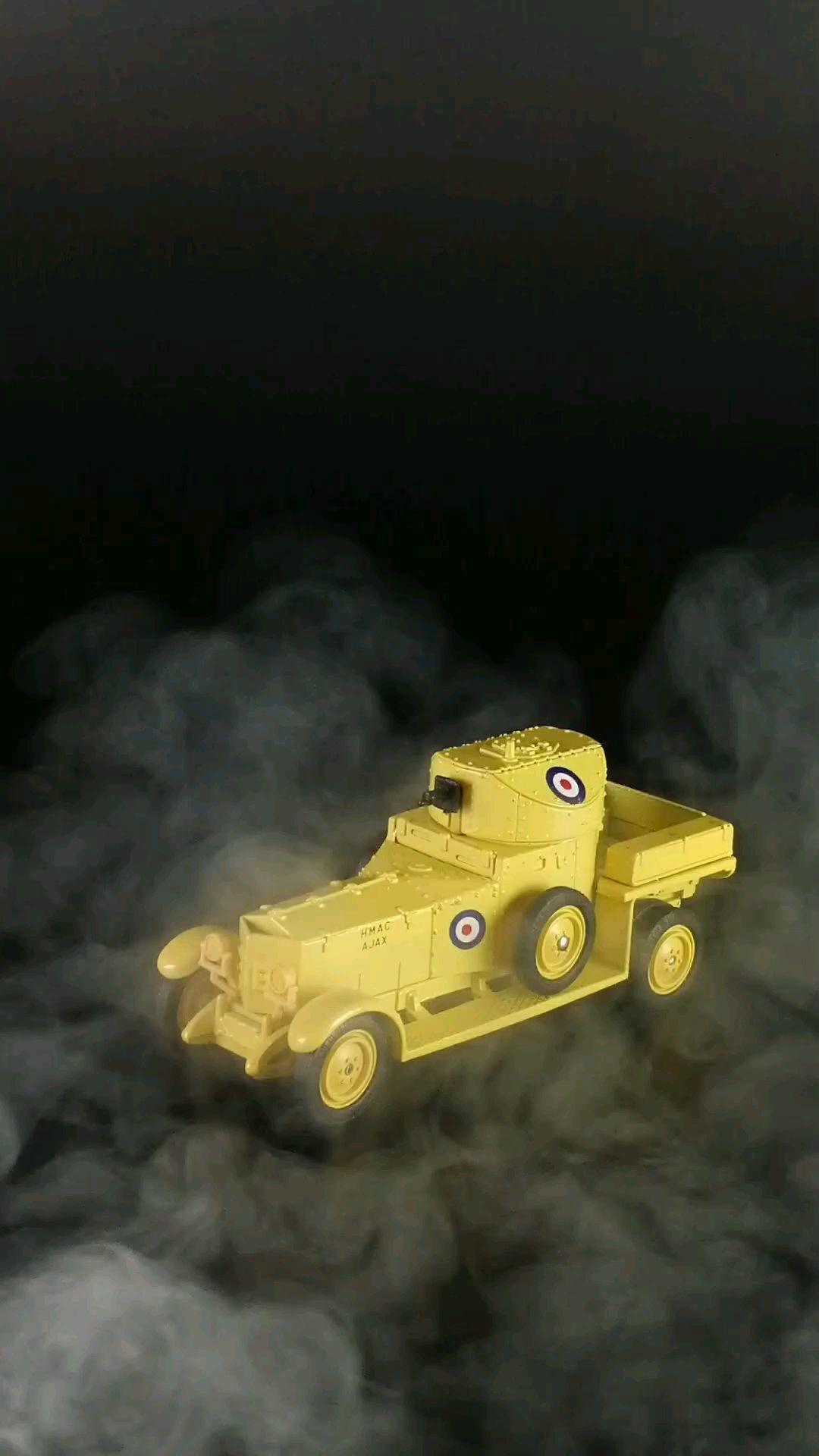 1920劳斯莱斯银灵装甲车,在阿拉伯的劳伦斯电影中有两辆这样的装甲车出场1:43东晓汽车模型收藏馆。