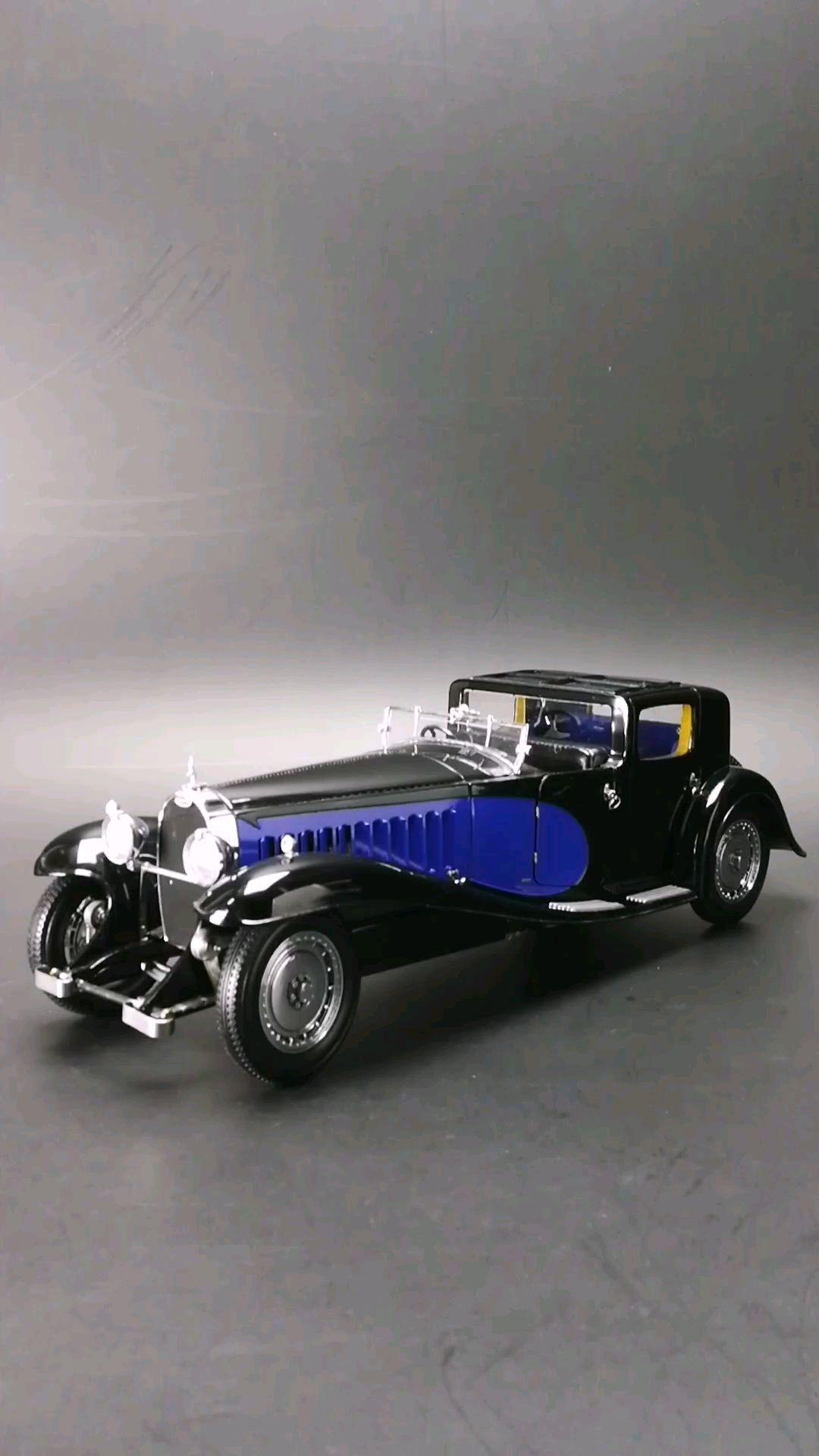1930艺术家的不朽杰作布加迪皇家41型,1:18比例,东晓汽车模型收藏馆藏品。
