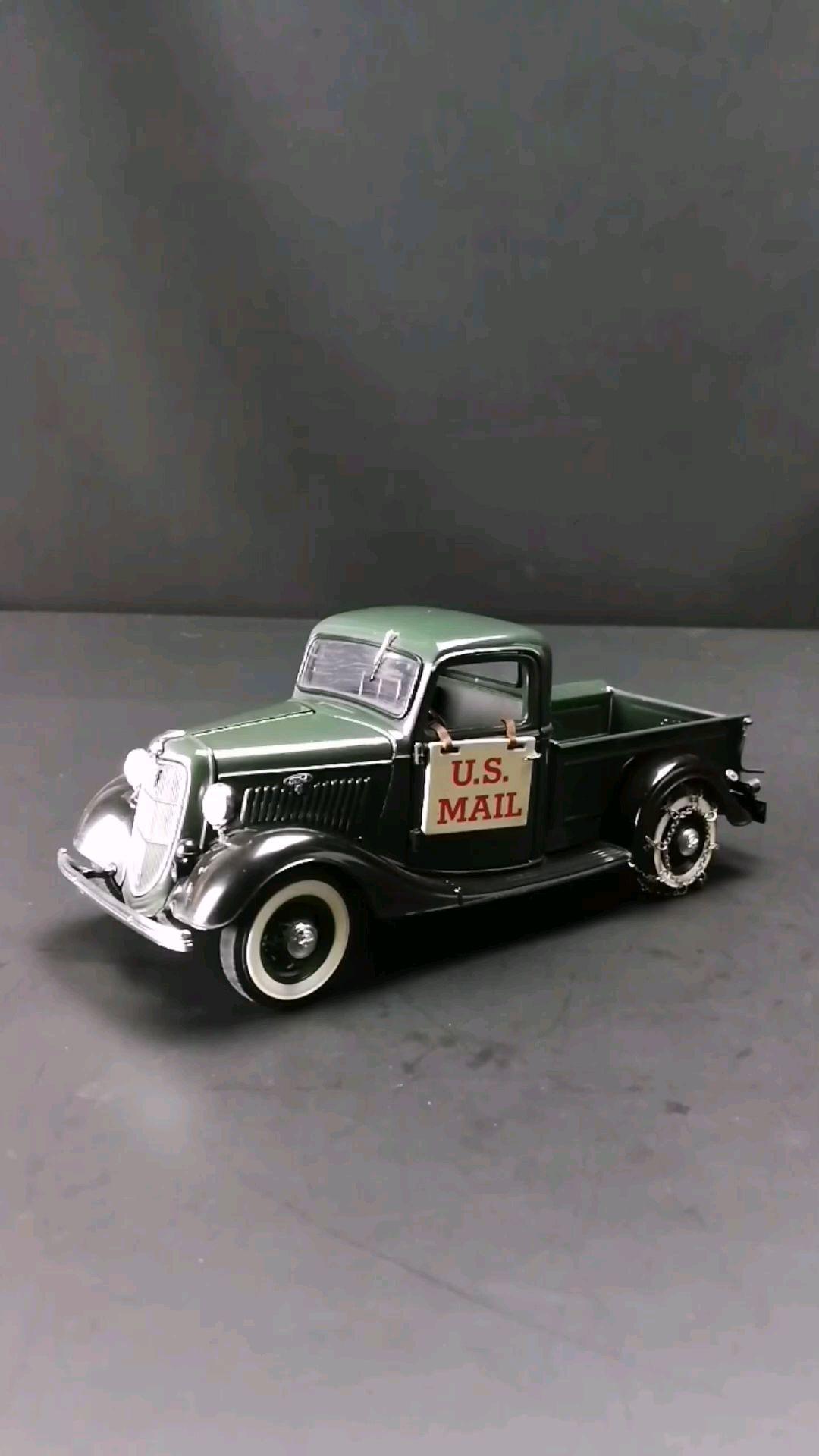 1935福特皮卡美国邮政车,1:24,东晓汽车模型收藏馆藏品。