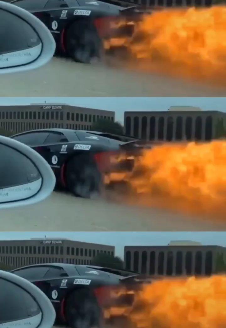 兰博基尼,这是真喷火!