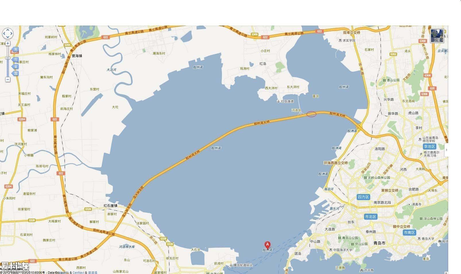 照片摄于青岛环胶州湾大桥上,也只有这一个地方能让我靠边停车拍照.