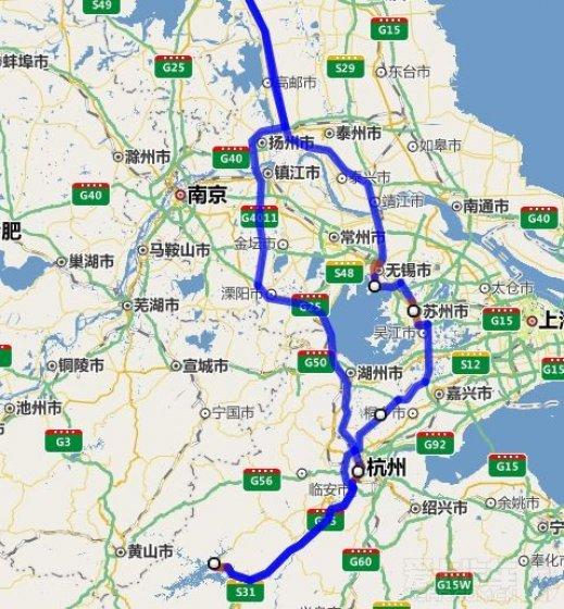求大侠指点路线!从北京到千岛湖自驾