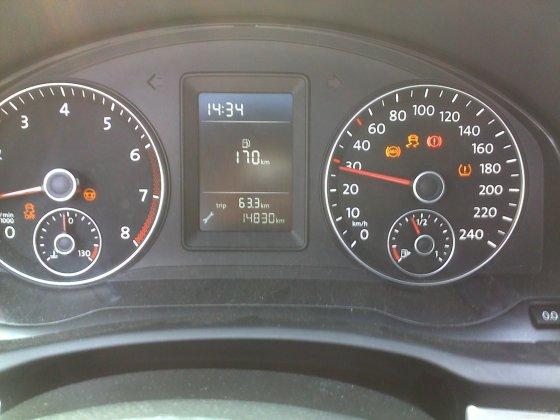 2010款方形雾灯版速腾仪表盘出现的行车信息,保证你没