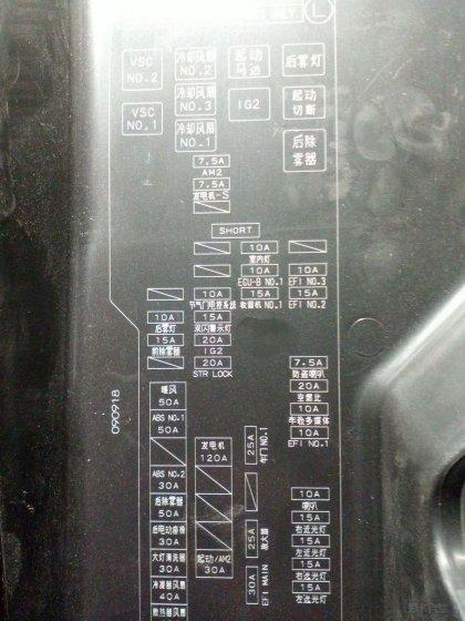 发动机舱 保险丝盒 求acc接电. obd 防盗器.喇叭太响之解决办法