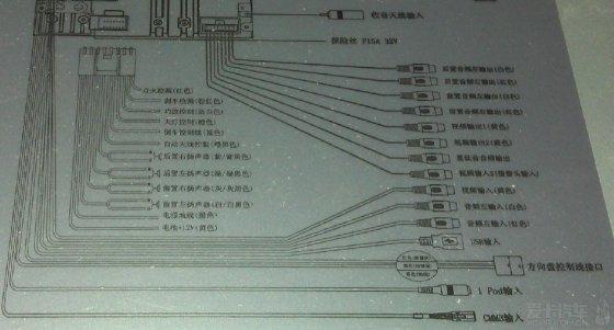 下图为导航一体机电路接线图