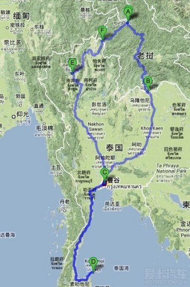 中国--老挝--泰国