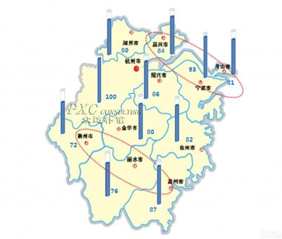 2013年浙江省薪酬地图