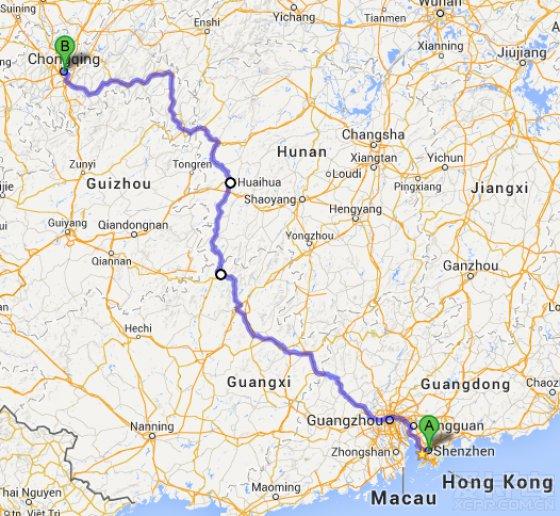从柳州到龙胜地图