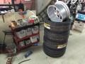 08奥德赛换轮毂宽胎,小改前刹车盘刹车片作业