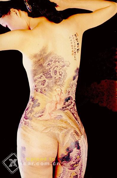 色人体高清_人体彩绘---色艺无间
