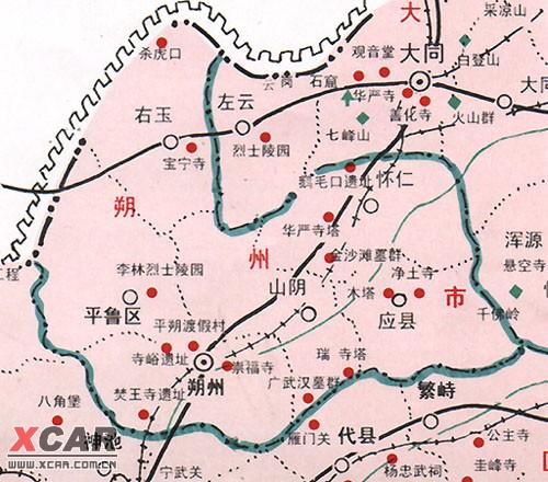 山西旅游地图
