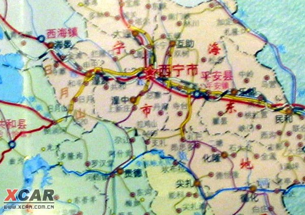 成都到西宁地图/若尔盖到绵阳地图/西宁到拉萨地图