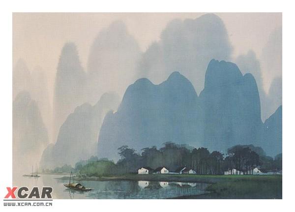 水彩风景画图片下载