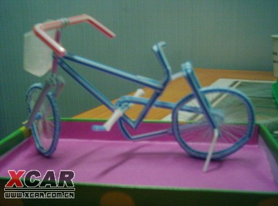【手工坊】吸管自行车